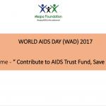 WORLD AIDS DAY (WAD) 2017